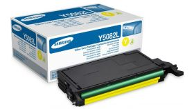 Консуматив Samsung CLT-Y5082L H-Yld Yel Toner Crtg (up to 4 000 A4 Pages at 5% coverage)* CLP-620/CLP-670/CLX-6220/CLX-6250 Series