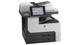 Принтер HP LaserJet Enterprise MFP M725dn B4; B5; A4; A5; A3 1200 x 1200 dpi 41 ppm  As fast as 10 sec 1024 MB max 1.5 GB800 MHz duplex USB 2.0; 10/100/1000 Base TX; Hardware Integration Pocket; USB ADF scan up to 600 dpi 20000 стр. / месец