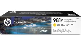 HP 981Y Extra High Yield Yellow PageWide Cartridge