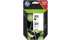 HP 301 Ink Cartridge Combo 2-Pack Standard Capacity (Black and Colour cartridge)