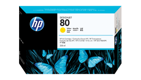Консуматив HP 80 Standard Original Ink Cartridge; Yellow;  ; HP DesignJet 1050, 1055