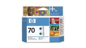 Консуматив HP 70 Standard 1-Pack Original Ink Cartridge; Cyan + Green;  ; HP DesignJet Z3100, Z3200