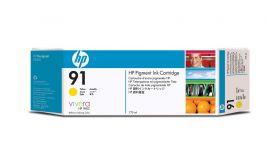 Консуматив HP 91 Standard 1-Pack Original Ink Cartridge; Yellow  775 ml;  ; HP DesignJet Z6100