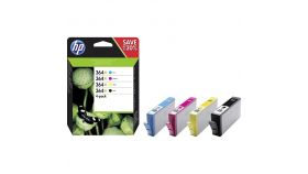 Консуматив HP 364X Combo 4Pack Original Ink Cartridge; C/M/Y/K;  Page Yield 750/750/750/550; HP ENVY 5642; 5644; 5744; 5646; 5540;