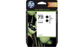 "Консуматив HP 711 2 - Pack Original Ink Cartridge; Black;  ; Designjet T120 24"" ePrinter, Designjet T520 24"" ePrinter, Designjet T520 36"" ePrinter"