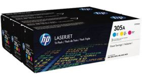 Консуматив HP 305A Original LaserJet cartridge; cym; 2600 Page Yield ; 3 - pack; CLJ Pro 300 Color M351 /Pro 400 Color M451/Pro 300 Color MFP M375/Pro 400 Color MFP M475