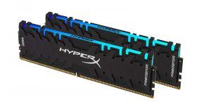 Памет HyperX Predator RGB 32GB(2x16GB) DDR4 PC4-25600 3200MHz CL16 HX432C16PB3AK2/32