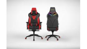 Геймърски стол INAZA Achilles M1 L черно-червен