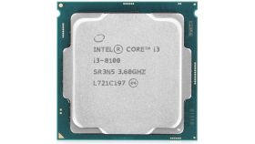 Процесор Intel Coffee Lake Core i3-8100, 3.6GHz, 6MB, 65W, 1151, TRAY