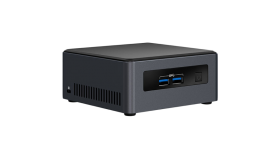Intel vPRO 24x7 qualified NUC 8th Gen, Core i7-8650U Quad Core 1.9GHZ Turbo 4.20 GHz, 2x DDR4 1.2V SODIMM (max 32GB),NVMe/SATA M.2 SSD (80mm), Intel 4K HD Graphics 640 (Dual HDMI 2.0a (4K 60Hz, HDR), w/HDCP2.2), 7.1 Audio via HDMI/DP, TPM 2.0, (2+2)x