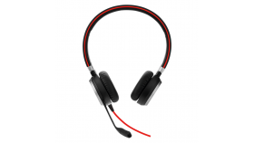 Слушалки Jabra Evolve 40 Stereo Unified Communication Optimized, Микрофон, Черни