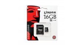 Карта памет Kingston Canvas Select, 16GB, UHS-I, Class 10 (U1), адаптер