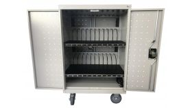 Универсален шкаф на колела Estillo LP-1224, за зареждане на до 24 бр. таблети, монтаж на стена или свободностоящ.