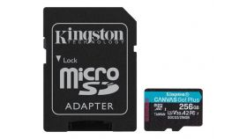KINGSTON 256GB microSDXC Canvas Go Plus 170R A2 U3 V30 Card + ADP