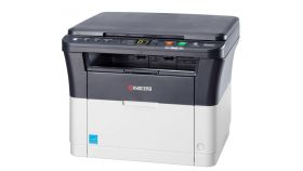 Kyocera FS-1220 MFP Digital Copier/Printer/Scanner	Engine speed: 20 cpm, 64 MB RAM, USB 2.0; 1st copy: <12 sec, Resolution: 1800 x 600 dpi, 250-sheet cassette, No manual feed, Platen cover, Output: up to A4; Printer, color scanner! Drum and components for