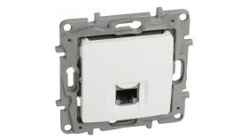 Legrand - RJ 45 Cat.5 UTP socket Nilo? - 360° shielded - white.1xRJ45 Cat. 5e UTP