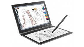 "FIESTA! Lenovo Yoga Book C930 4G/3G WiFi BT4.2, m3-7Y30 up to 2.6GHz, 10.8"" QHD IPS 2560x1600 + 10.8"" FullHD E-Ink 1920x1080, 4GB DDR3, 128GB SSD, 2MP cam, Nano SIM, MicroSD up to 512GB, 2xUSB-C, Dolby Atmos, Fingerprint Reader, Multilanguage E-Ink k"