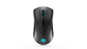 Lenovo Legion M600 Wireless Gaming Mouse, 9 Programmable Buttons, 16,000 DPI, 50M clicks, 2 zone 16.8 million colours RGB, USB, rapid-charging, Iron grey top cover & black body