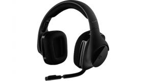 Геймърски слушалки Logitech, G533 DTS 7.1 Surround Sound, Безжични, Микрофон, Черни