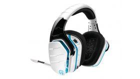 Геймърски слушалки Logitech, G933 Artemis Spectrum Surround Sound Wireless 7.1, Безжични, Микрофон, Бели
