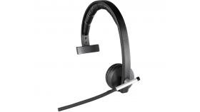 Безжична моно слушалка Logitech H820е, Микрофон, USB, Черни