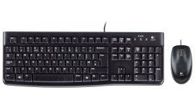 Kомплект клавиатура с мишка Logitech MK120, Черна