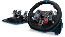 Волан Logitech Driving Force G29 PS3/PS4/PC, Черен