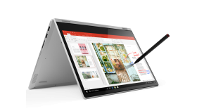 "Lenovo Yoga C340 14"" FullHD IPS Touch i3-8145U up to 3.9GHz, 8GB DDR4, 256GB SSD m.2 PCIe, Backlit KBD, Fingerprint Reader, TPM 2.0, USB-C, HDMI, 720p cam with shutter, Platinum, Win 10 + Active Pen"