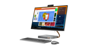 """PROMO! Lenovo IdeaCentre AIO A540 27.0"""" IPS QHD Touch Antiglare i5-9400T up to 3.4GHz HexaCore, 8GB DDR4, 512GB m.2 PCIe, Gigabit, HDMI in-out, Wireless charger, JBL Audio with subwoofer, WiFi, BT, 1080p cam + IR cam, Mineral Grey, Win10 + Wireless k"""