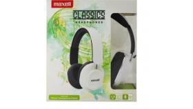 Слушалки с микрофон /хендсфри/ големи наушници  CLASSICS  white MAXELL