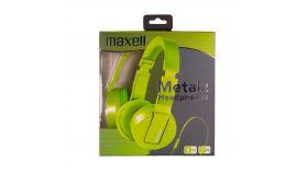 Слушалки с микрофон MAXELL METALZ TENNIS, зелен