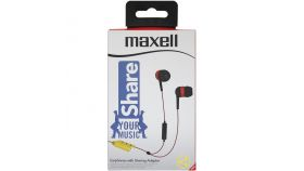 Слушалки с микрофон MAXELL EB SHARE, In-Ear, Червен