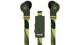 Слушалки с микрофон MAXELL FLAT WIRE, In-Ear, CAMO