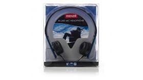 Слушалки с микрофон HP-MIC BLUE /сини/ MAXELL