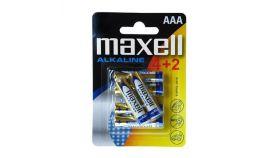 Алкална батерия MAXELL LR03 AAA 1,5V /4+2 бр. в опаковка