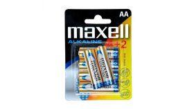Алкална батерия MAXELL LR-6 / 4+2 бр. в опаковка 1.5V