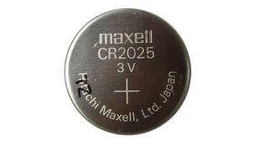 Бутонна батерия литиева MAXELL CR-2025 3 V 5бр. в блистер /цена за 1 бр./ MAXELL