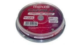 CDRW80  10PK CAKE BOX MAXELL