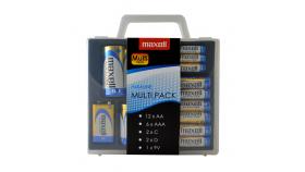 Мултипак алкални батерия в PVC case: 12*AA; 6*AAA; 2*C; 2*D; 1*9V   MAXELL