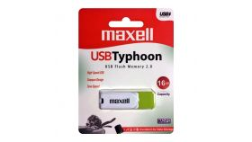 USB памет MAXELL Typhoon, 16GB, Зелен