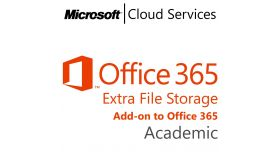MICROSOFT Office 365 Extra File Storage, Academic, Volume License Subscription (VLS), Cloud, Single Language Language, Multiple, 1 year