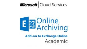 MICROSOFT Exchange Online Archiving, , Academic, Volume License Subscription (VLS), Cloud, Single Language Language, 1 user, 1 year