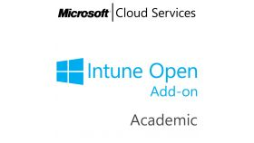 MICROSOFT Intune Open Add-On, , Academic, Volume License Subscription (VLS), Cloud, Single Language Language, 1 user, 1 year