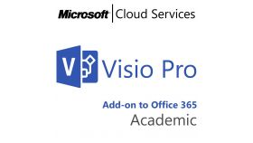 MICROSOFT Visio Professional, , Academic, Volume License Subscription (VLS), Cloud, Single Language Language, 1 user, 1 year