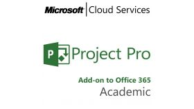 MICROSOFT Project Professional, , Academic, Volume License Subscription (VLS), Cloud, Single Language Language, 1 user, 1 year