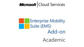 MICROSOFT Enterprise Mobility Suite Add-On, , Academic, Volume License Subscription (VLS), Cloud, Single Language Language, 1 user, 1 year