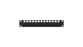 "MIRSAN MR.TUP60.01 :: Кабелен органайзер, 1U, 19"" сърварен шкаф, D=600"