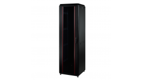 MIRSAN MR.GTV42U88.01 :: Сървърен шкаф - 800 x 800 x 2053 мм / 42U, D=800 мм, 1000 кг товар, черен, свободно стоящ, Versatile