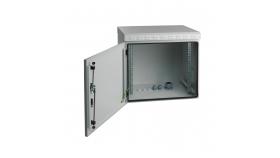 MIRSAN MR.IP55W07U45.03 :: IP55 Outdoor сървърен шкаф - 600 x 450 x 410 мм, D=450 мм / 7U, 100 кг товар, бял, за стена