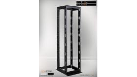 MIRSAN MR.OPR42UDF66.01 :: Сървърен шкаф - 535 x 660 x 2000 мм, D=660 мм / 42U, отворен, черен, OPEN RACK DOUBLE FRAME